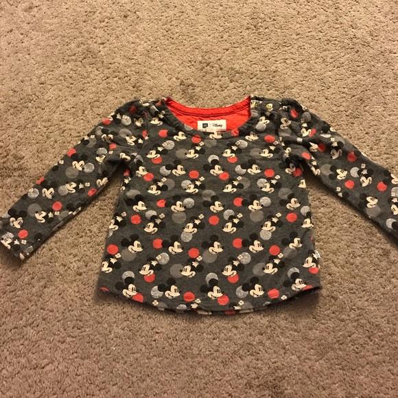 938fd18e0a3b GAP Shirts & Tops | Toddler Girls Mickey Sweater | Poshmark